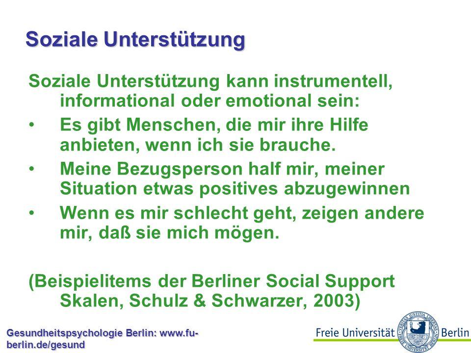 Soziale Unterstützung