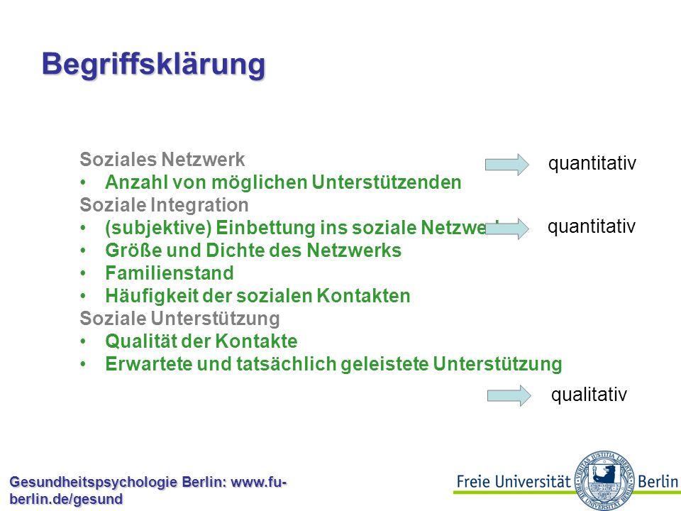 Begriffsklärung Soziales Netzwerk quantitativ