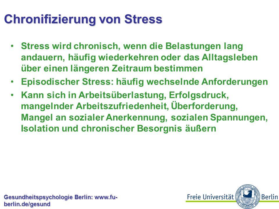 Chronifizierung von Stress