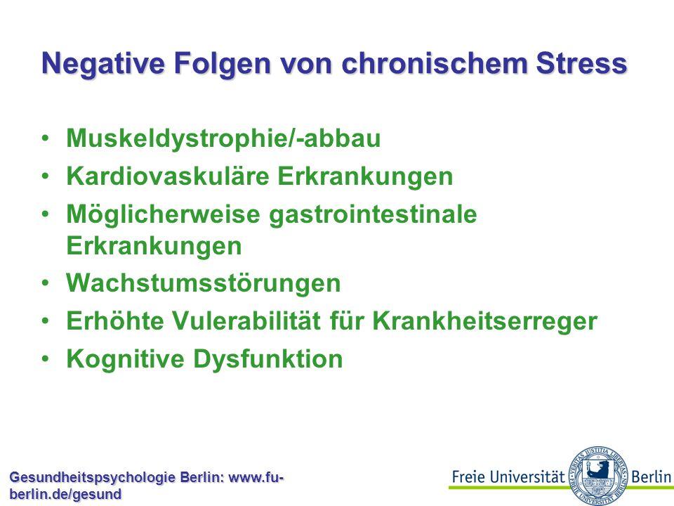 Negative Folgen von chronischem Stress