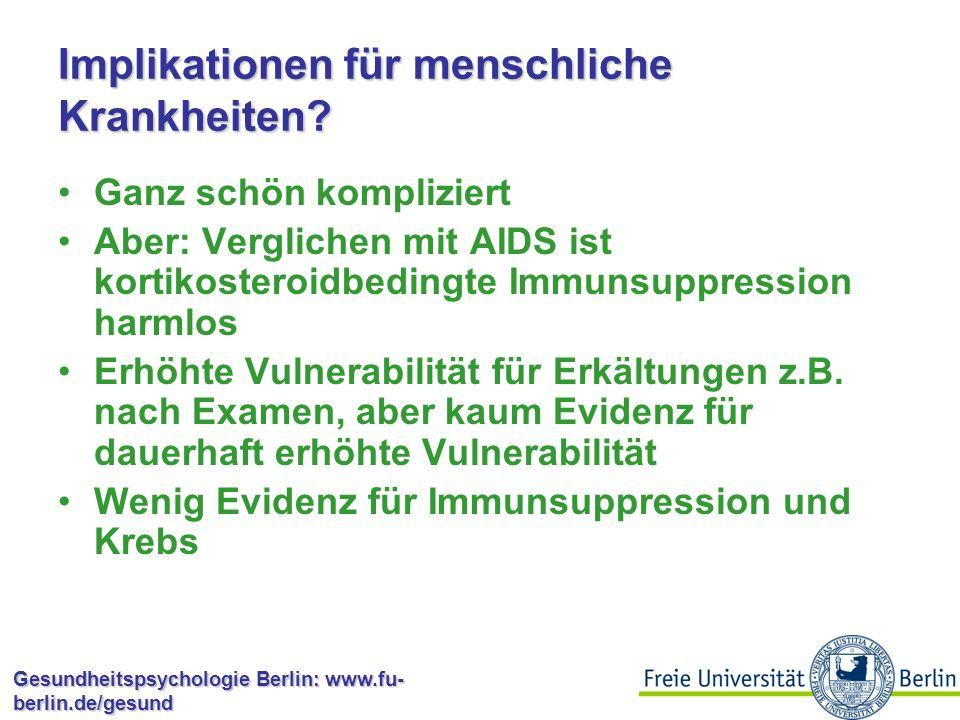 Implikationen für menschliche Krankheiten