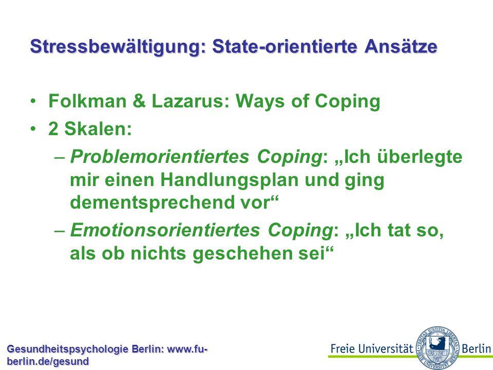 Stressbewältigung: State-orientierte Ansätze