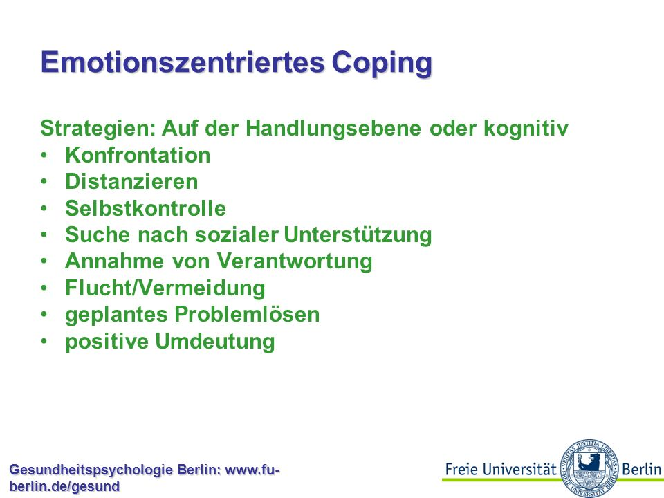 Emotionszentriertes Coping