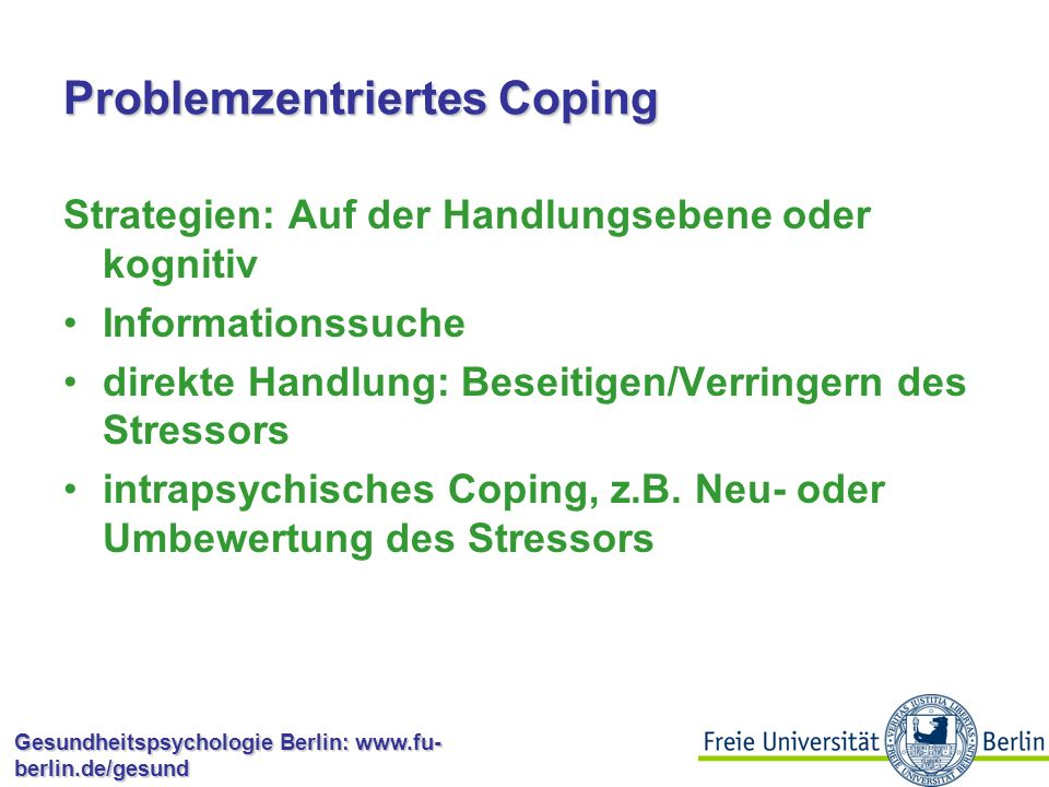 Problemzentriertes Coping
