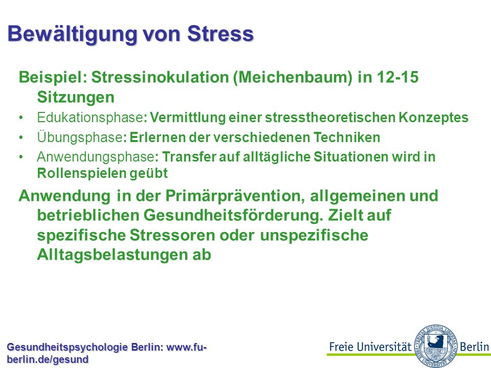 Bewältigung von Stress