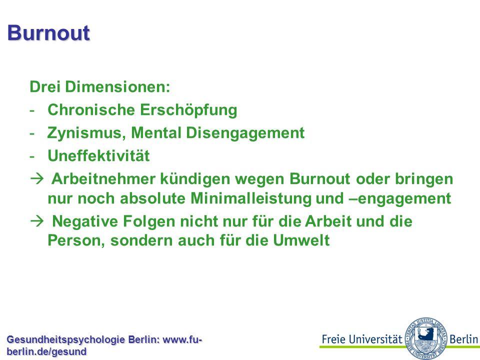 Burnout Drei Dimensionen: Chronische Erschöpfung