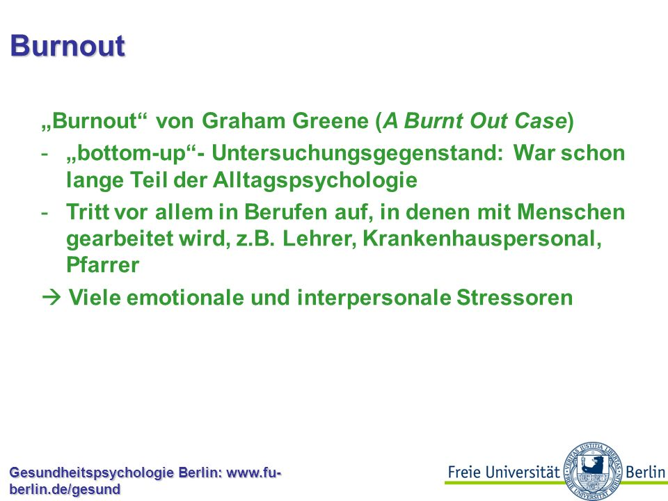 "Burnout ""Burnout von Graham Greene (A Burnt Out Case)"