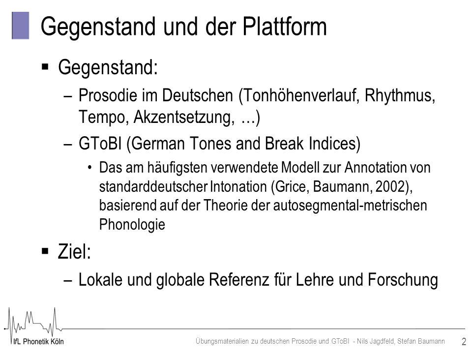 Gegenstand und der Plattform