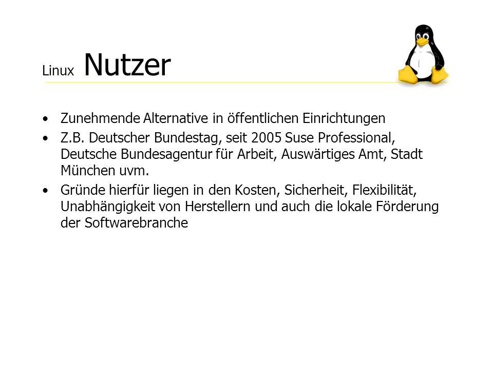 Linux Nutzer Zunehmende Alternative in öffentlichen Einrichtungen.