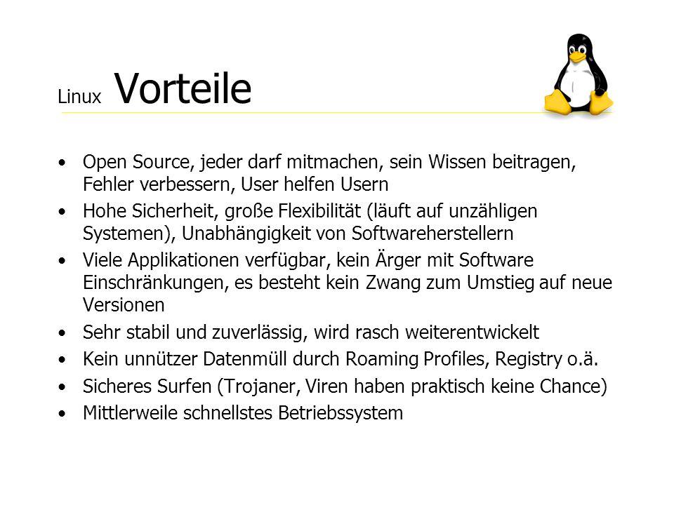 Linux Vorteile Open Source, jeder darf mitmachen, sein Wissen beitragen, Fehler verbessern, User helfen Usern.
