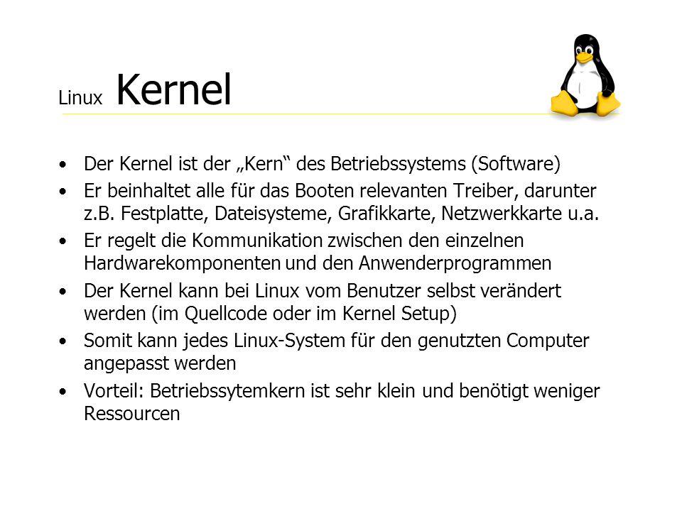 """Linux Kernel Der Kernel ist der """"Kern des Betriebssystems (Software)"""