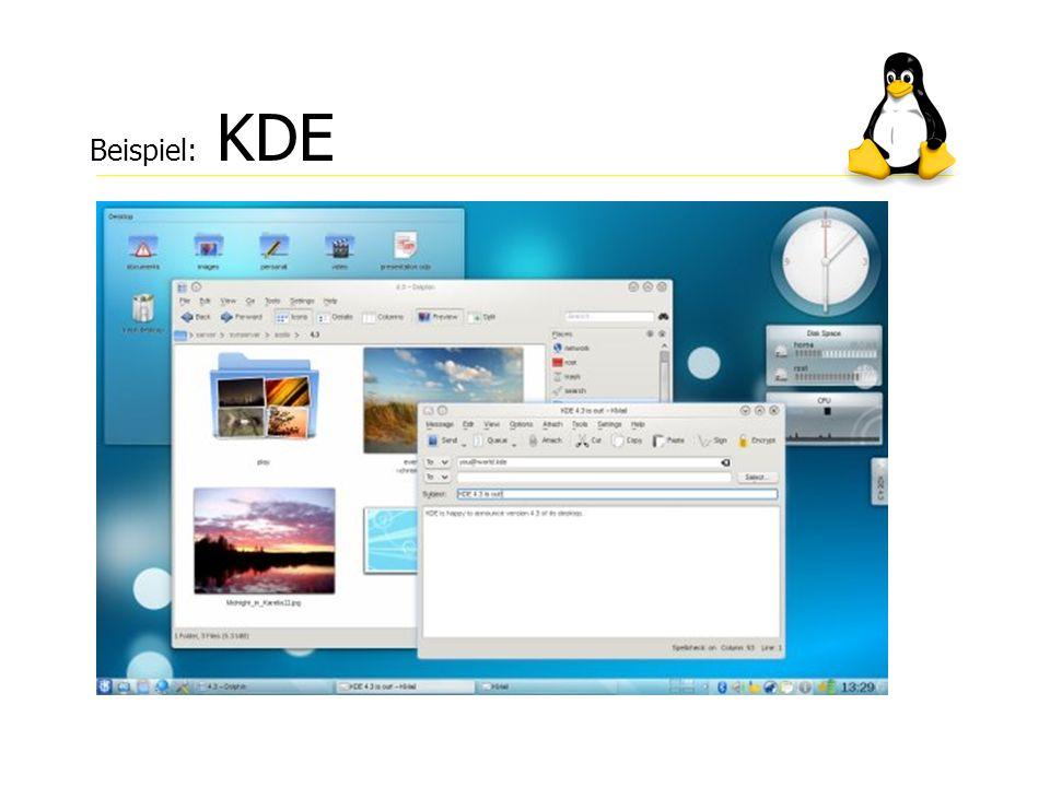 Beispiel: KDE