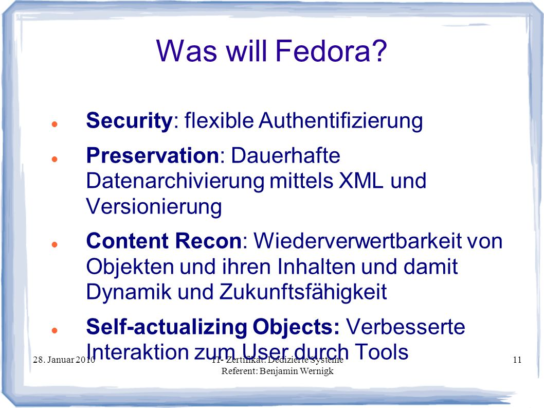 Was will Fedora Security: flexible Authentifizierung