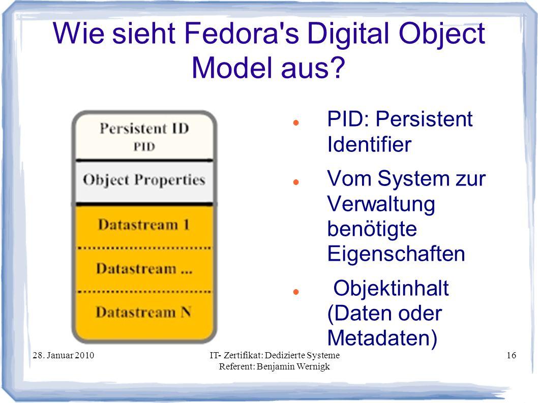 Wie sieht Fedora s Digital Object Model aus