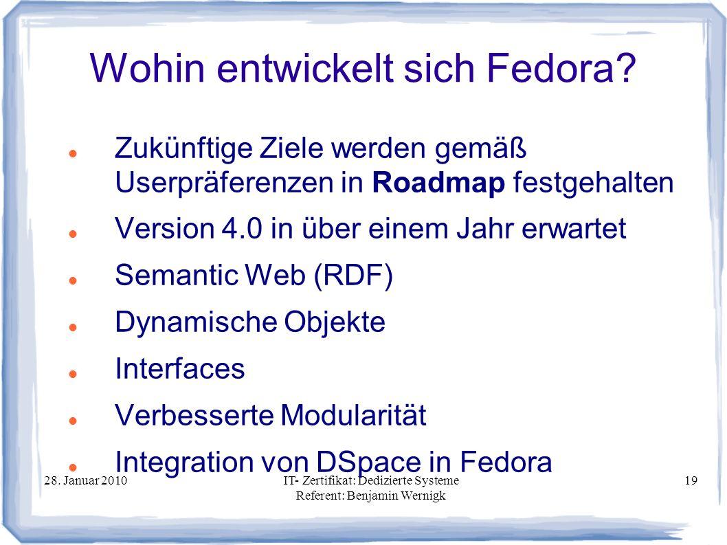 Wohin entwickelt sich Fedora
