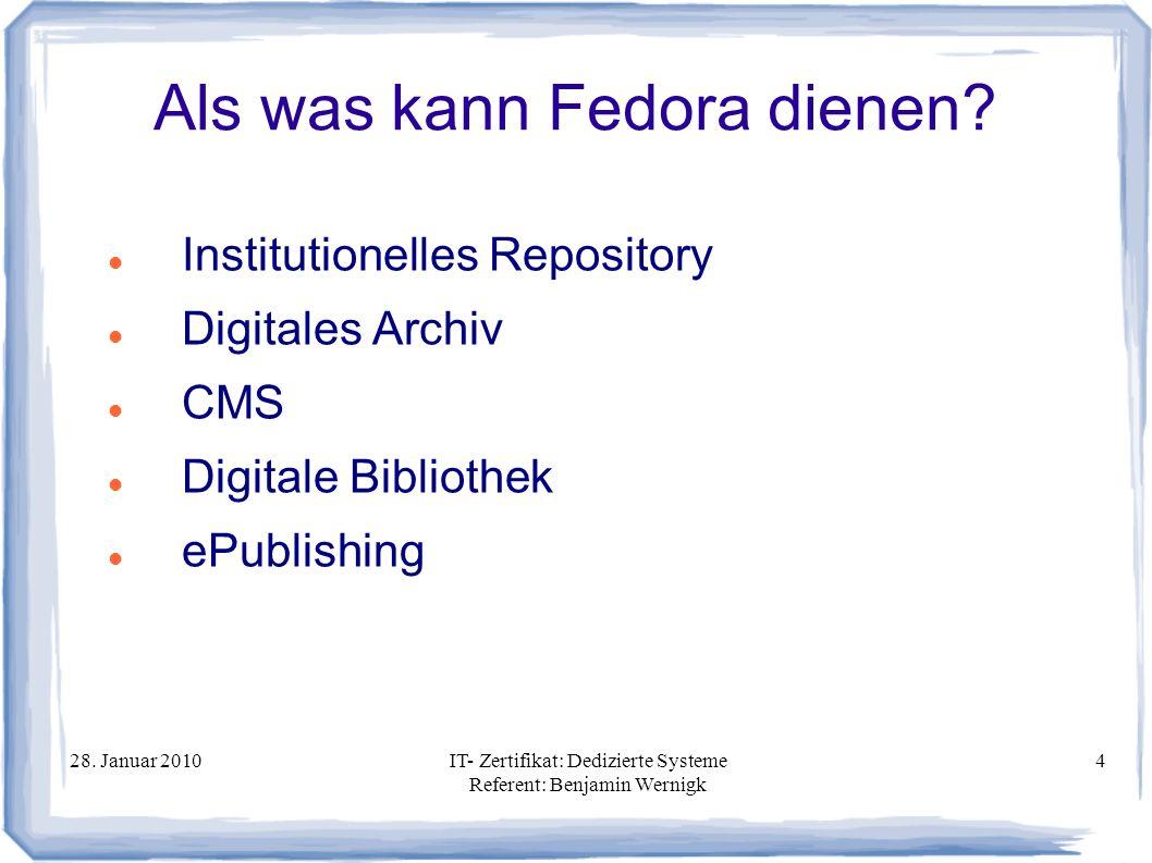 Als was kann Fedora dienen
