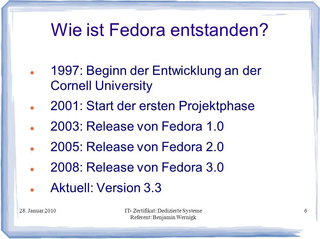 Wie ist Fedora entstanden