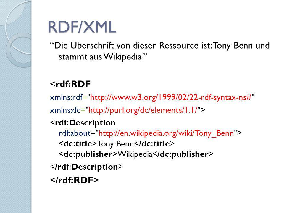 RDF/XML Die Überschrift von dieser Ressource ist: Tony Benn und stammt aus Wikipedia. <rdf:RDF.