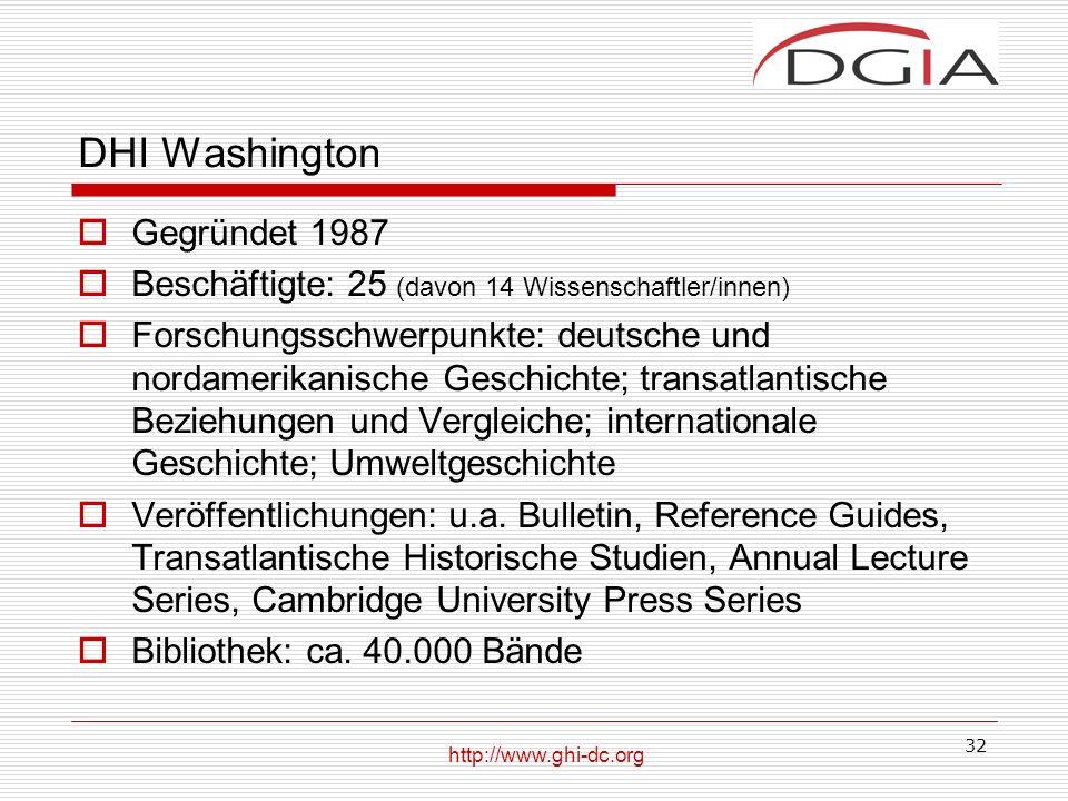 DHI Washington Gegründet 1987