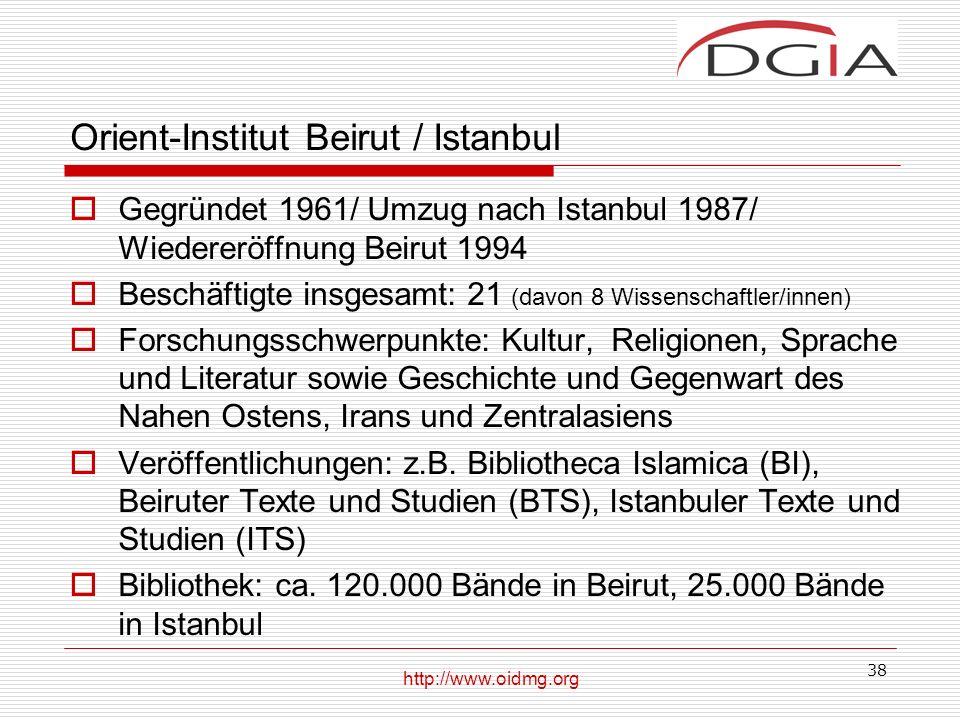 Orient-Institut Beirut / Istanbul