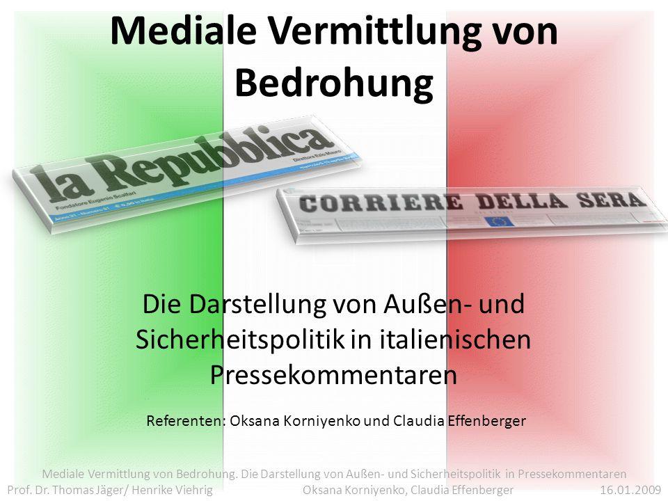 Mediale Vermittlung von Bedrohung