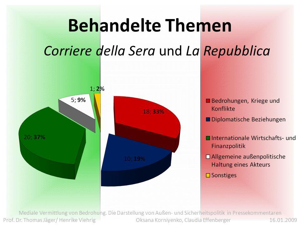 Corriere della Sera und La Repubblica