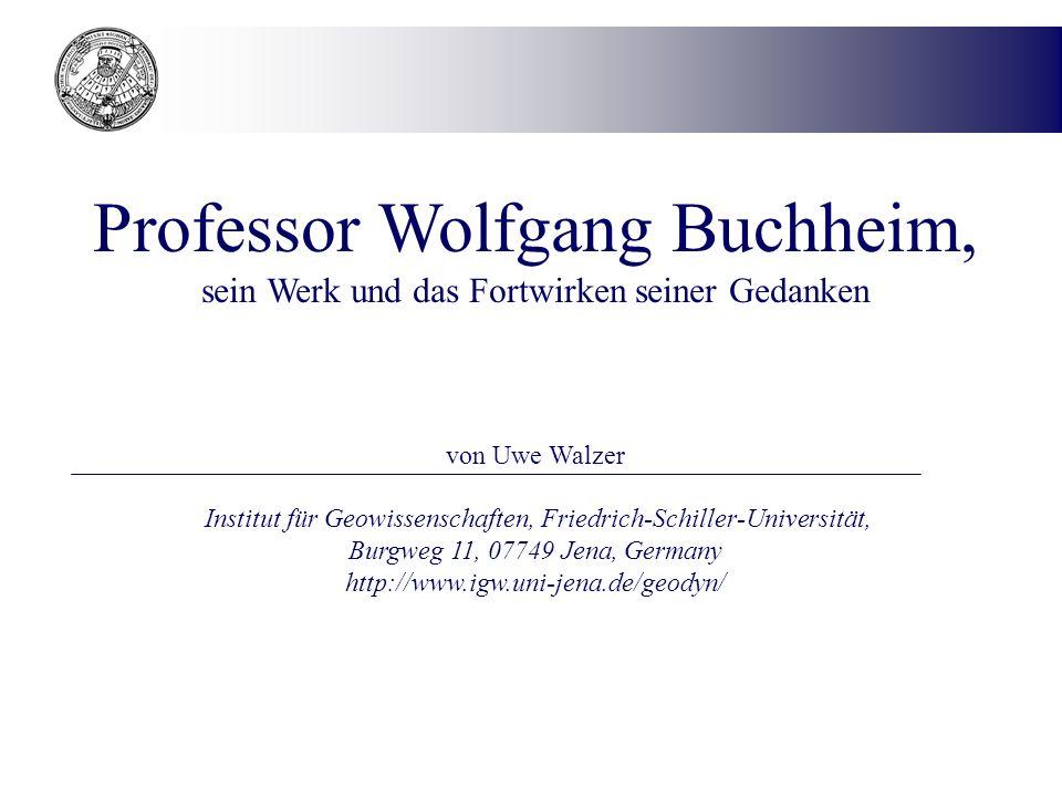 Professor Wolfgang Buchheim,