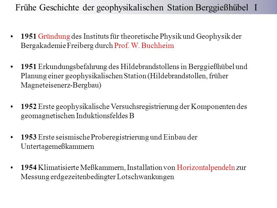 Frühe Geschichte der geophysikalischen Station Berggießhübel I