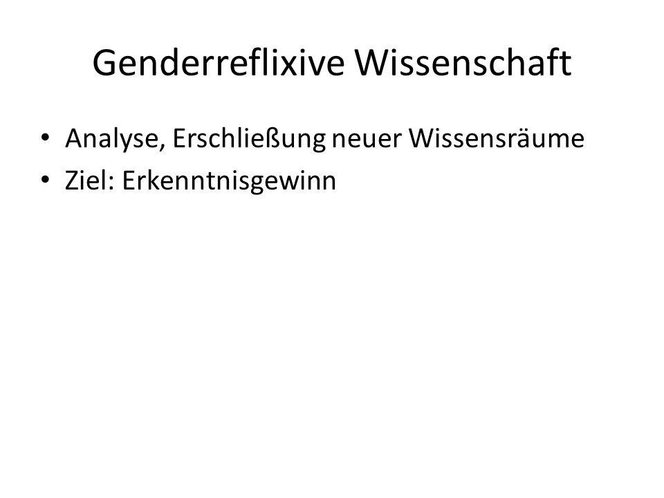 Genderreflixive Wissenschaft