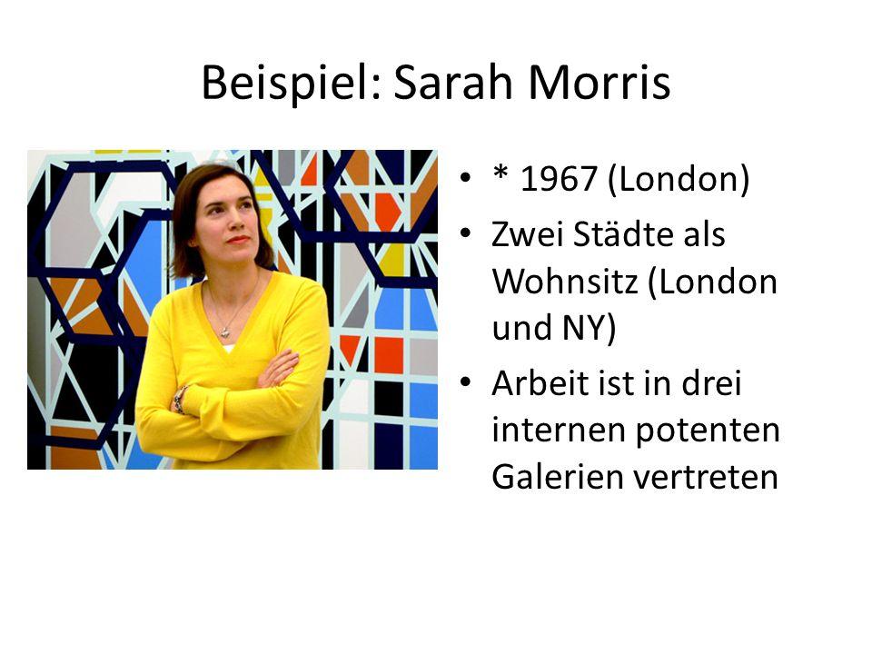 Beispiel: Sarah Morris