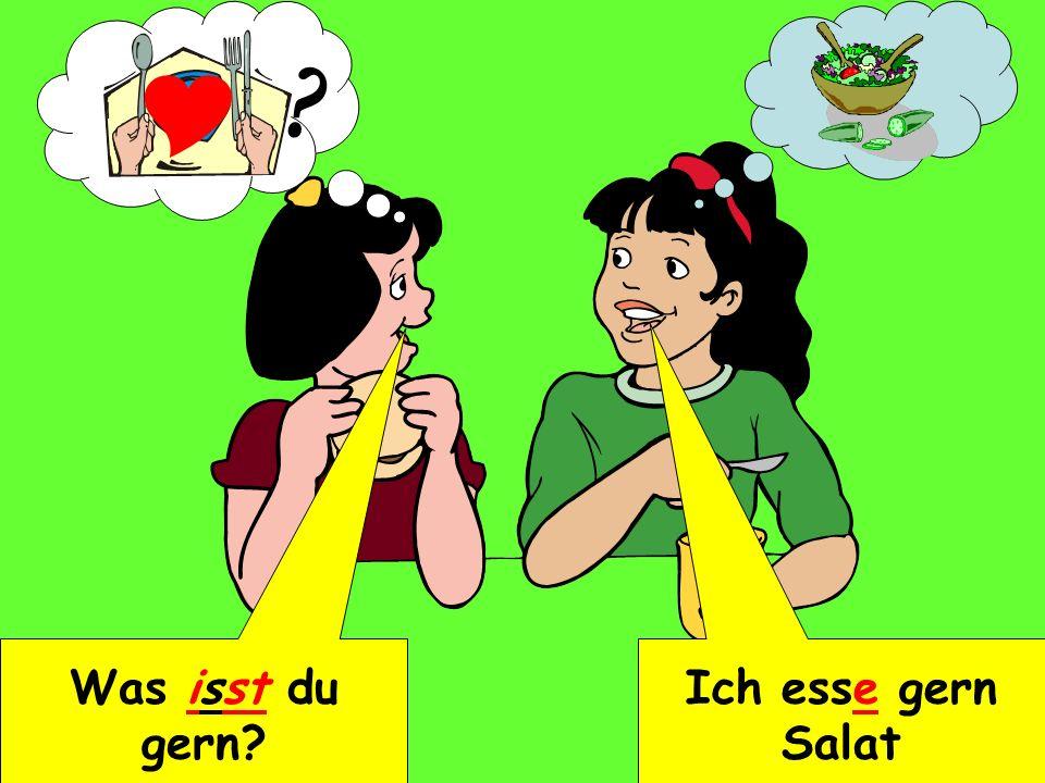  Was isst du gern Ich esse gern Salat