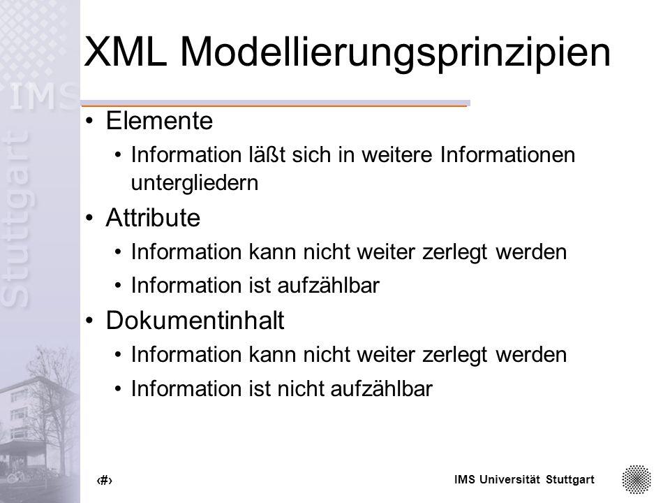 XML Modellierungsprinzipien