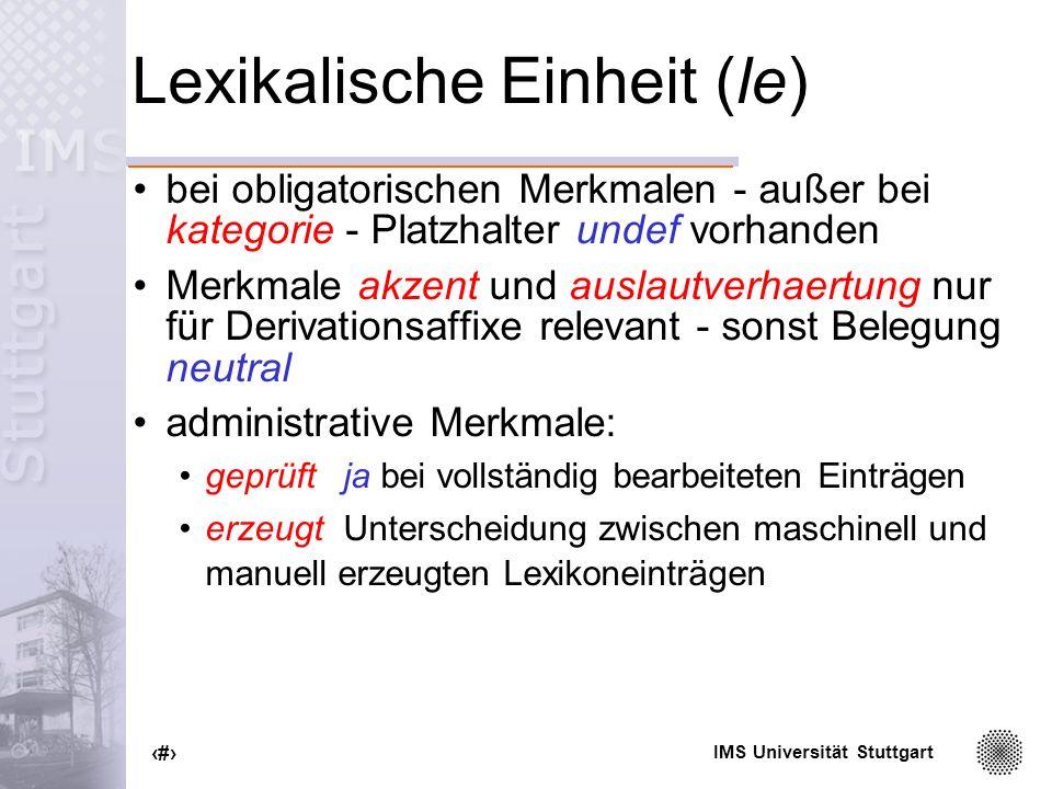 Lexikalische Einheit (le)