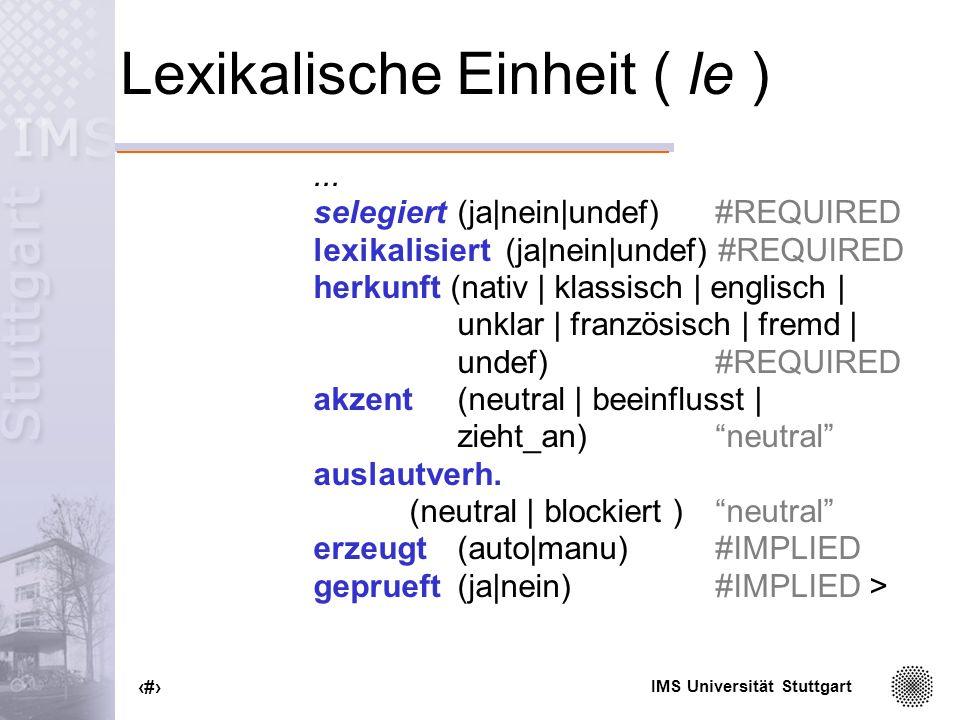 Lexikalische Einheit ( le )