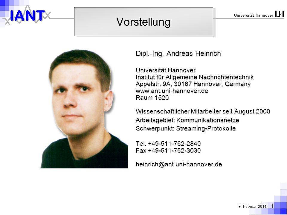 Vorstellung Dipl.-Ing. Andreas Heinrich