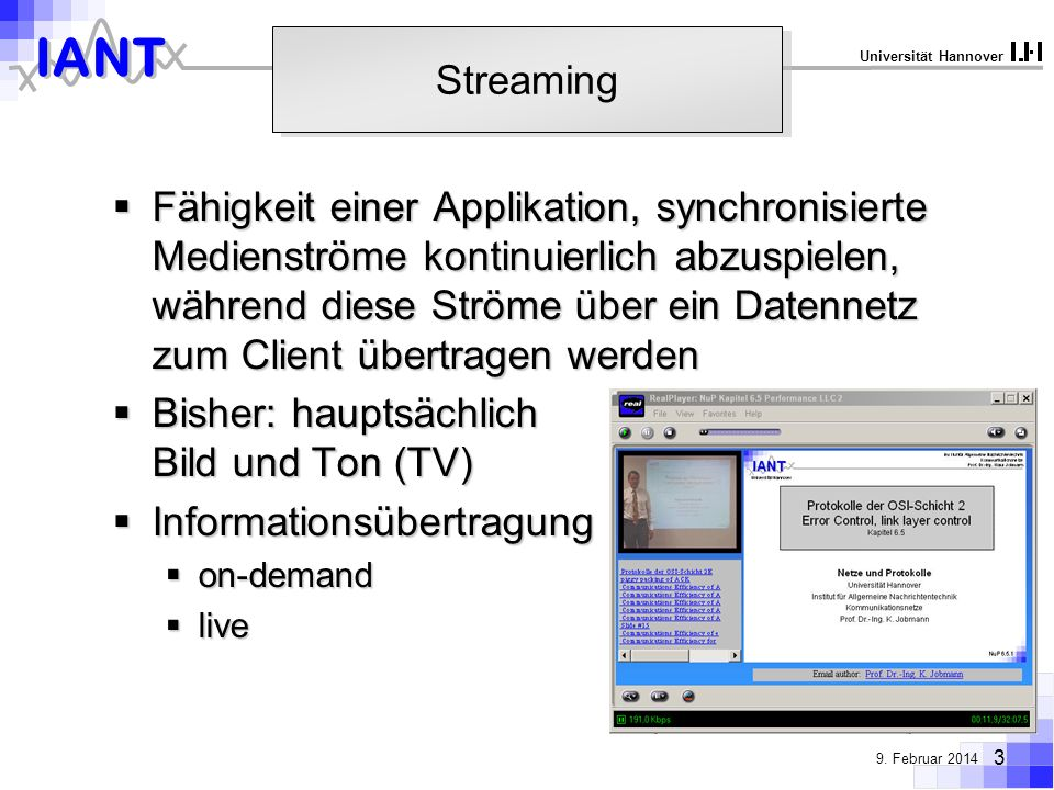 Bisher: hauptsächlich Bild und Ton (TV) Informationsübertragung
