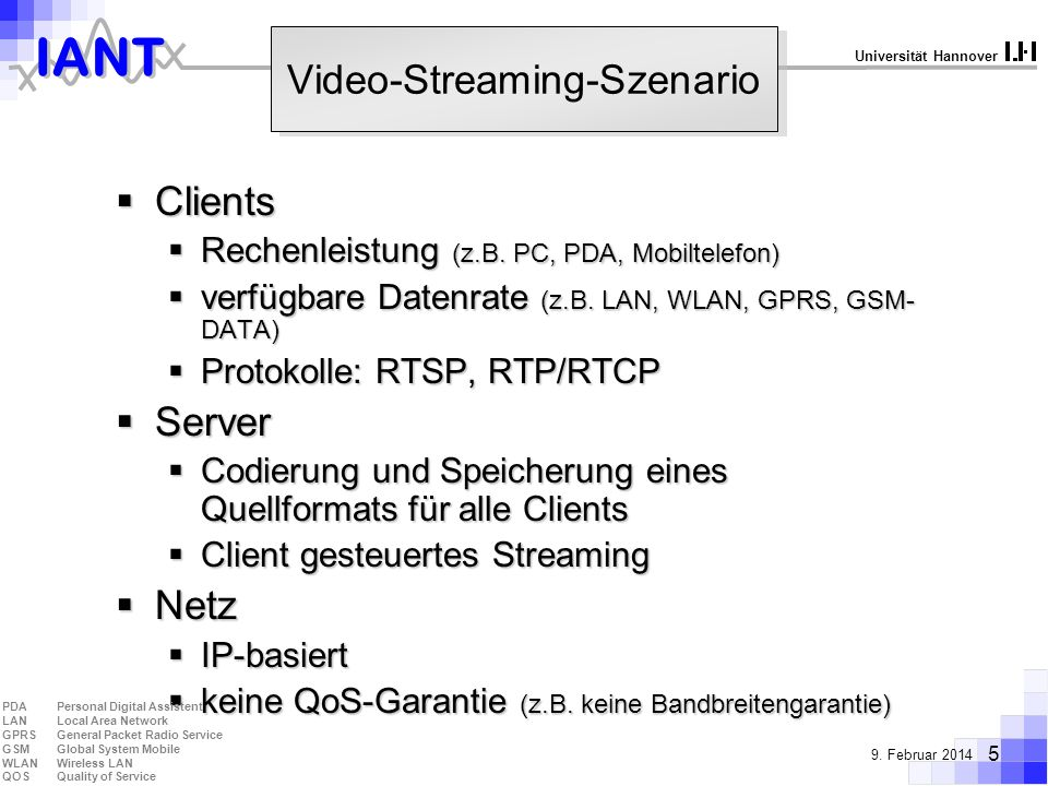 Video-Streaming-Szenario