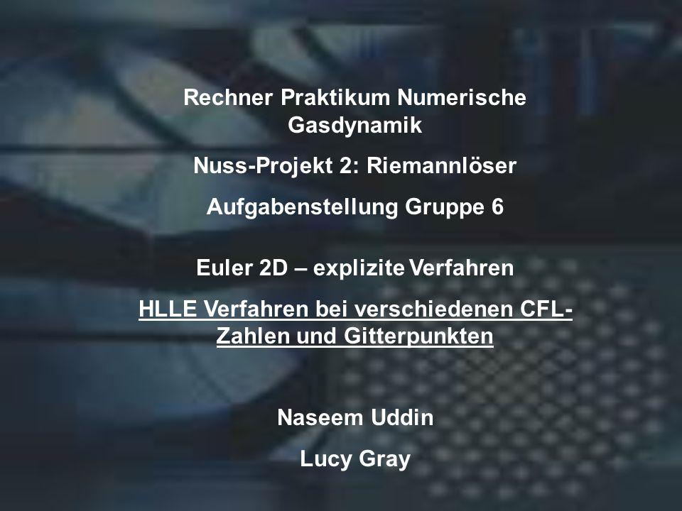 Rechner Praktikum Numerische Gasdynamik Nuss-Projekt 2: Riemannlöser