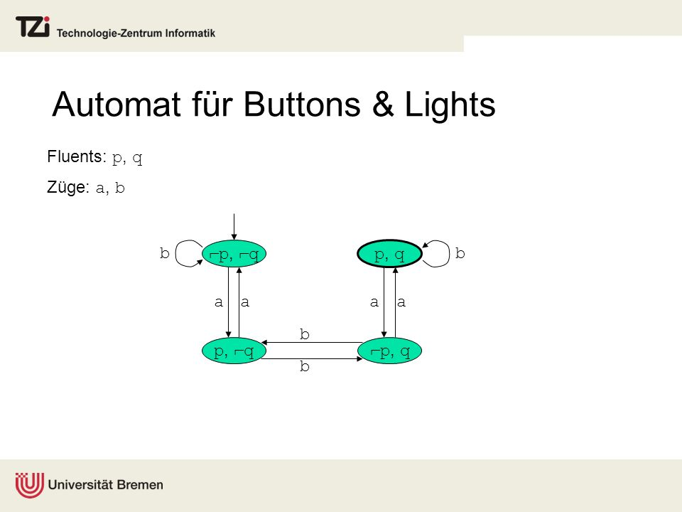 Automat für Buttons & Lights