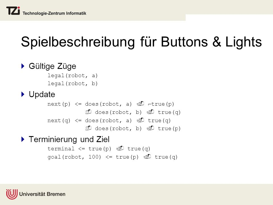Spielbeschreibung für Buttons & Lights