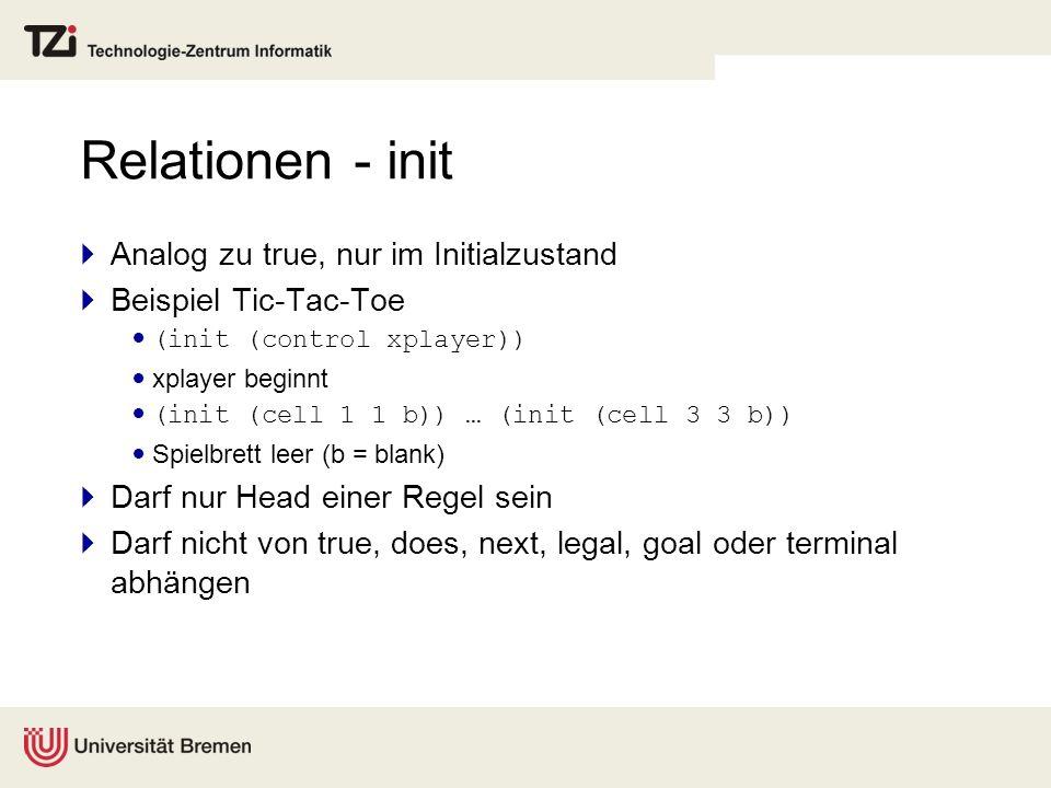 Relationen - init Analog zu true, nur im Initialzustand