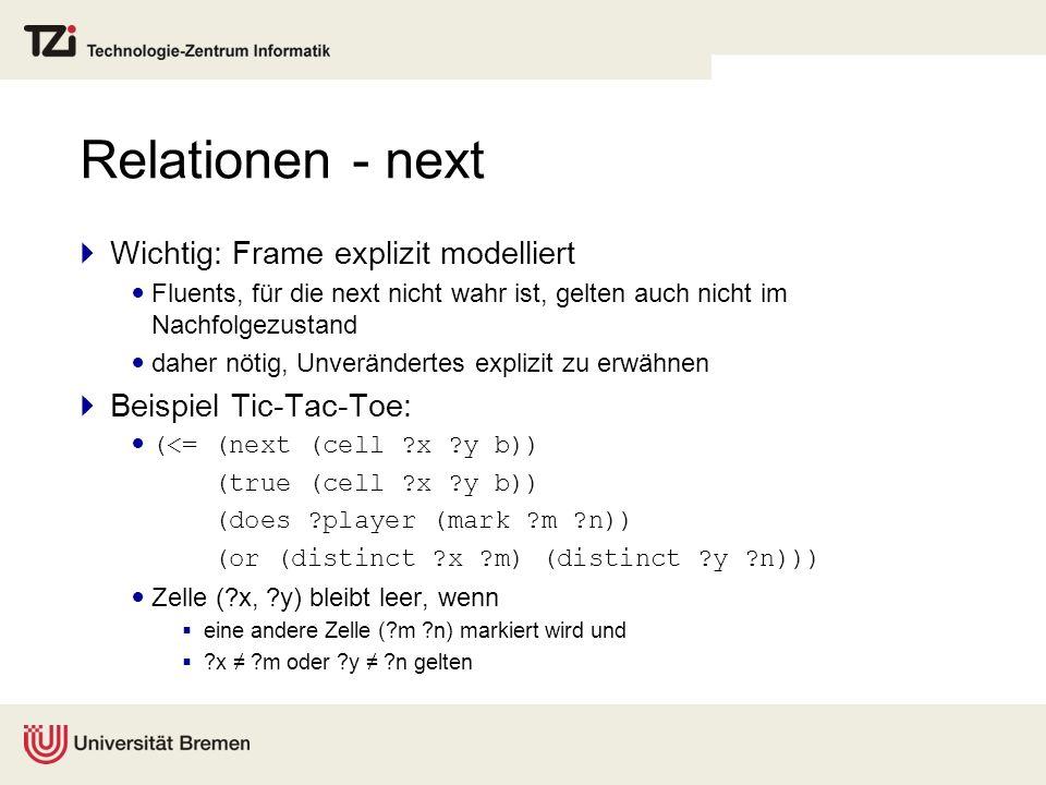 Relationen - next Wichtig: Frame explizit modelliert