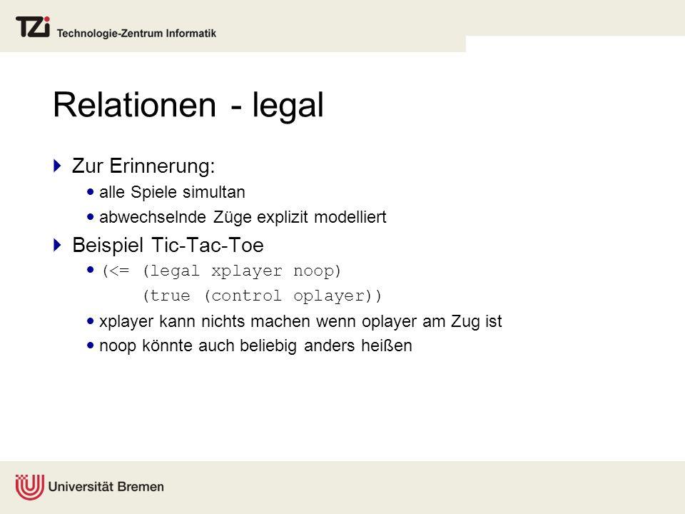 Relationen - legal Zur Erinnerung: Beispiel Tic-Tac-Toe