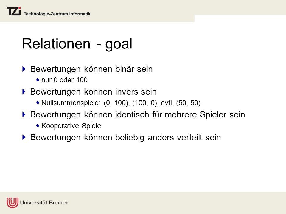 Relationen - goal Bewertungen können binär sein