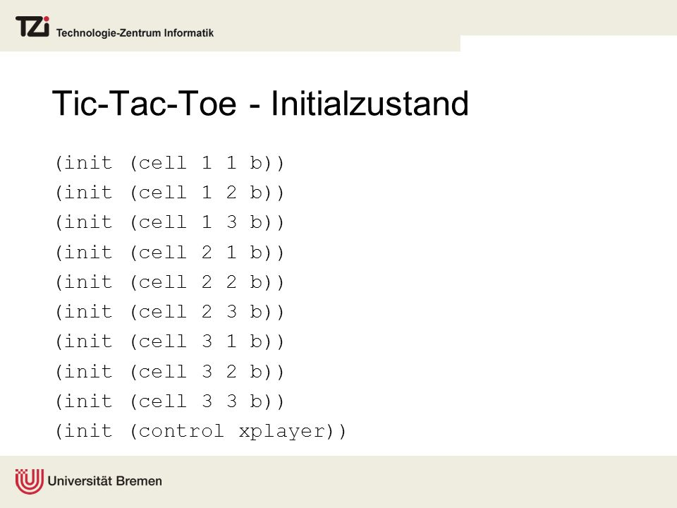 Tic-Tac-Toe - Initialzustand