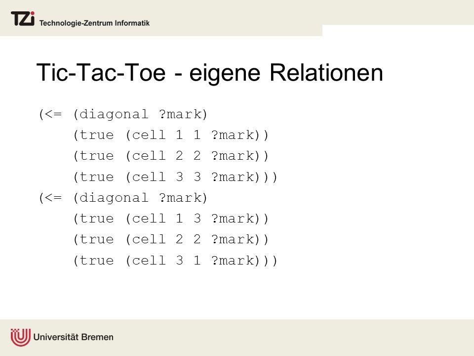 Tic-Tac-Toe - eigene Relationen