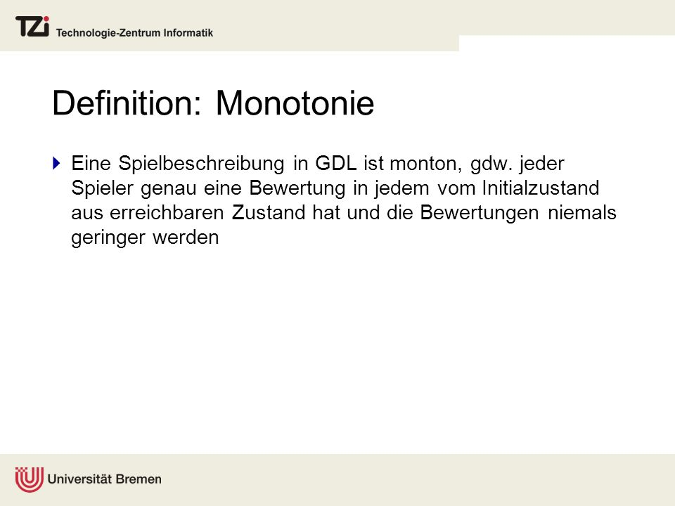 Definition: Monotonie