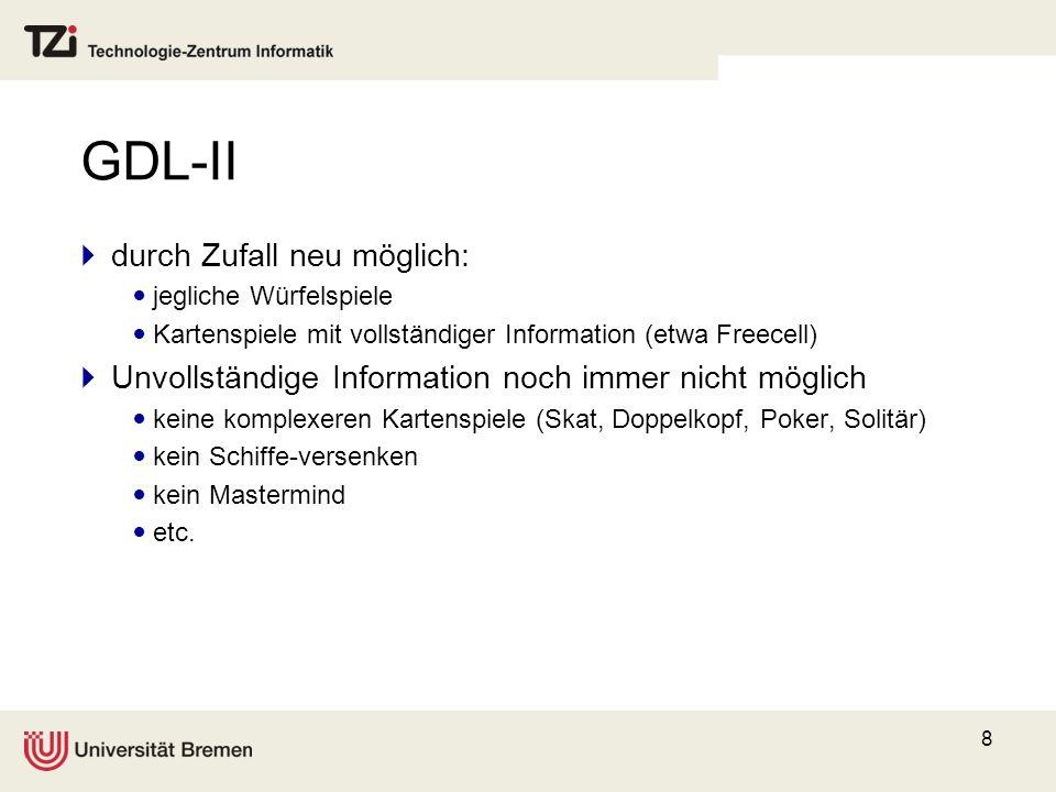 GDL-II durch Zufall neu möglich: