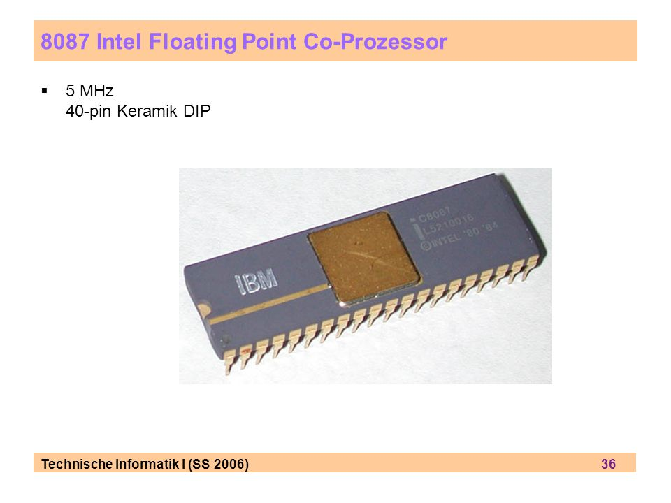 8087 Intel Floating Point Co-Prozessor