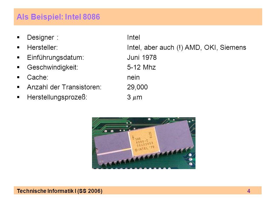 Als Beispiel: Intel 8086 Designer : Intel